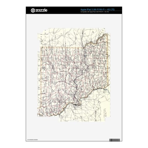 Vintage Map of Missouri (1883) Decal For iPad 3