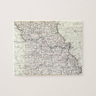 Vintage Map of Missouri (1883) Jigsaw Puzzle