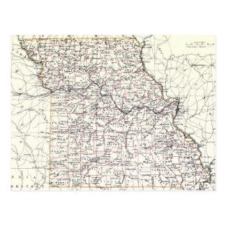 Vintage Map of Missouri (1883) Post Card