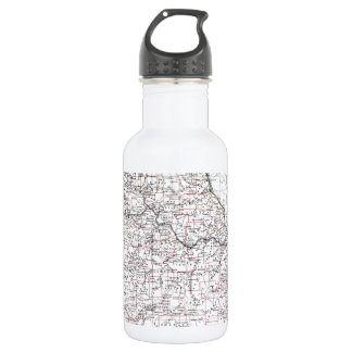 Vintage Map of Missouri (1883) Water Bottle