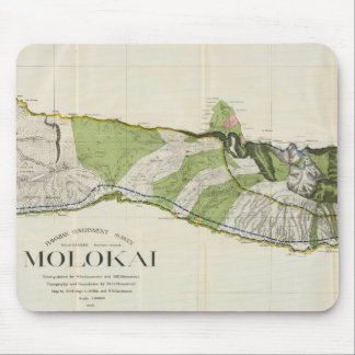 Vintage Map of Molokai Hawaii (1906) Mouse Pad