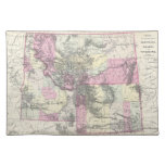 Vintage Map of Montana, Wyoming and Idaho (1884) Cloth Placemat