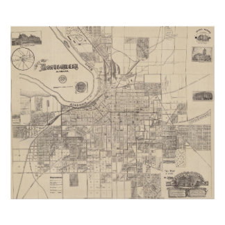 Vintage Map of Montgomery Alabama (1899) Poster