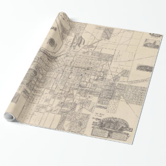Vintage Map of Montgomery Alabama (1899) Wrapping Paper