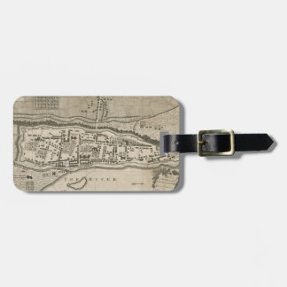 Vintage Map of Montreal (1758) Bag Tag