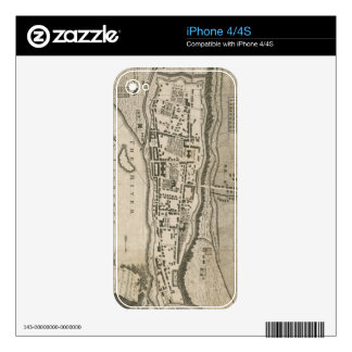 Vintage Map of Montreal (1758) iPhone 4S Decal