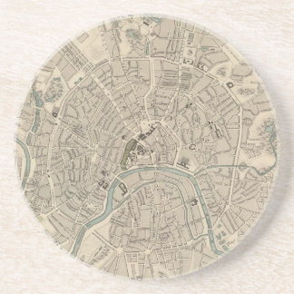 Vintage Map of Moscow (1836) Drink Coaster