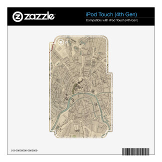 Vintage Map of Moscow 1836 Skin For iPod Touch 4G