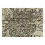 Vintage Map of Moscow (1893) Card