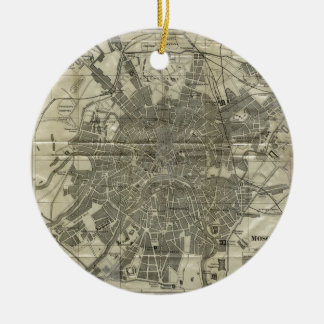 Vintage Map of Moscow (1893) Ceramic Ornament