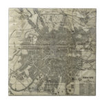 Vintage Map of Moscow (1893) Ceramic Tiles