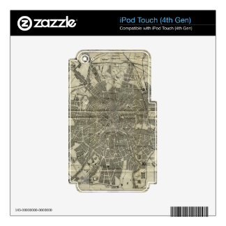 Vintage Map of Moscow 1893 iPod Touch 4G Decal