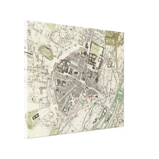 Vintage Map of Munich Germany (1832) Stretched Canvas Prints