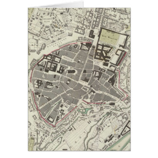 Vintage Map of Munich Germany (1832) Card