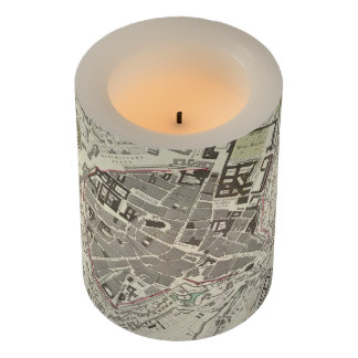 Vintage Map of Munich Germany (1832) Flameless Candle