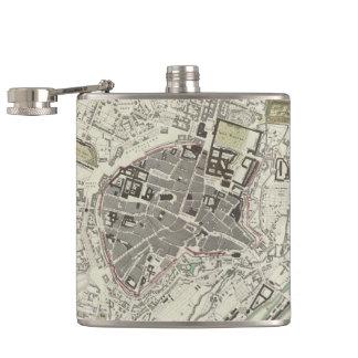 Vintage Map of Munich Germany (1832) Hip Flask