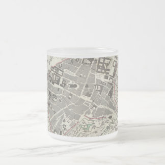 Vintage Map of Munich Germany (1832) Frosted Glass Coffee Mug