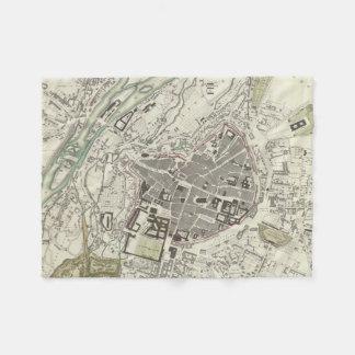 Vintage Map of Munich Germany (1832) Fleece Blanket