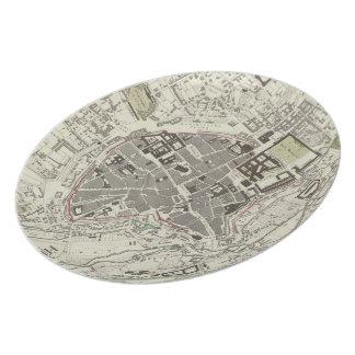 Vintage Map of Munich Germany (1832) Melamine Plate