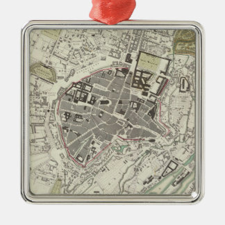 Vintage Map of Munich Germany (1832) Metal Ornament