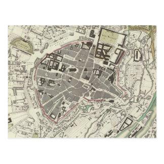 Vintage Map of Munich Germany (1832) Postcard