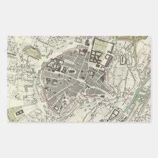Vintage Map of Munich Germany (1832) Rectangular Sticker