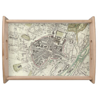 Vintage Map of Munich Germany (1832) Serving Tray