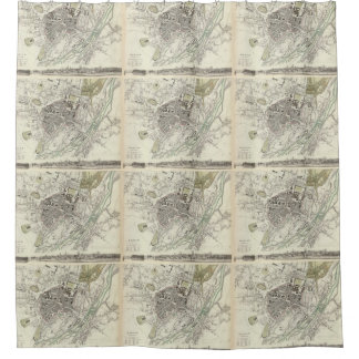 Vintage Map of Munich Germany (1832) Shower Curtain