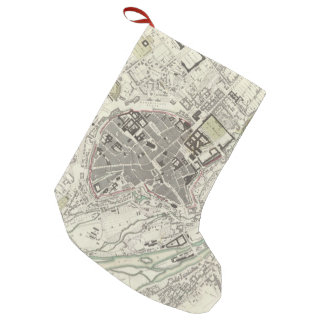 Vintage Map of Munich Germany (1832) Small Christmas Stocking