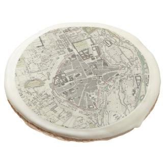 Vintage Map of Munich Germany (1832) Sugar Cookie
