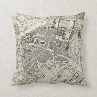 Vintage Map of Munich Germany (1832) Throw Pillow