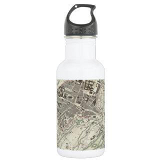 Vintage Map of Munich Germany (1832) Water Bottle