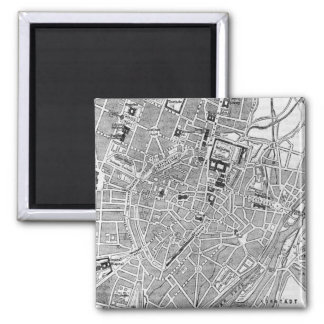 Vintage Map of Munich Germany (1884) 2 Inch Square Magnet