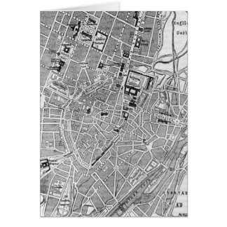 Vintage Map of Munich Germany (1884) Card