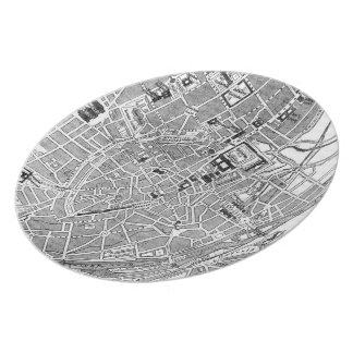 Vintage Map of Munich Germany (1884) Dinner Plate