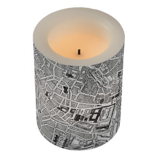 Vintage Map of Munich Germany (1884) Flameless Candle