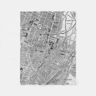 Vintage Map of Munich Germany (1884) Fleece Blanket