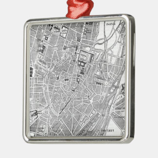 Vintage Map of Munich Germany (1884) Metal Ornament