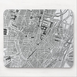 Vintage Map of Munich Germany (1884) Mouse Pad