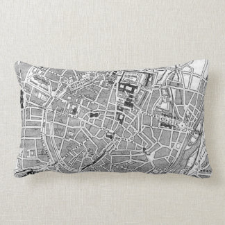 Vintage Map of Munich Germany (1884) Pillow