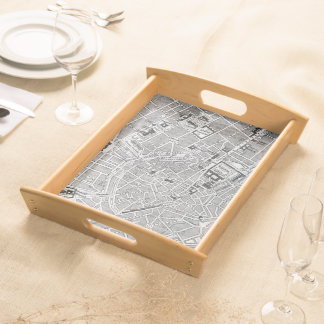 Vintage Map of Munich Germany (1884) Food Trays
