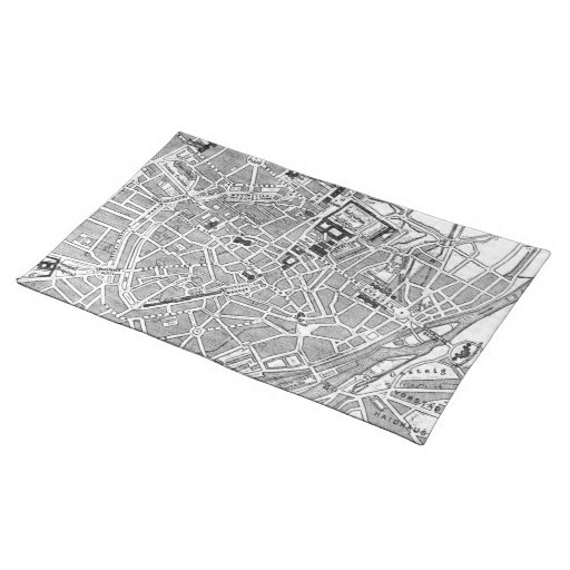 Vintage Map of Munich Germany (1884) Place Mat