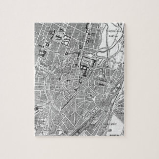 Vintage Map of Munich Germany (1884) Jigsaw Puzzles