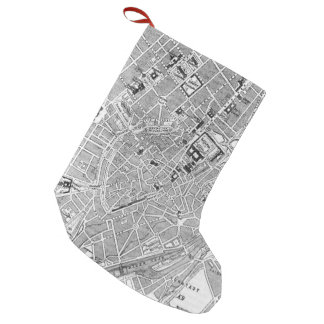 Vintage Map of Munich Germany (1884) Small Christmas Stocking