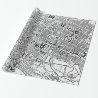 Vintage Map of Munich Germany (1884) Wrapping Paper