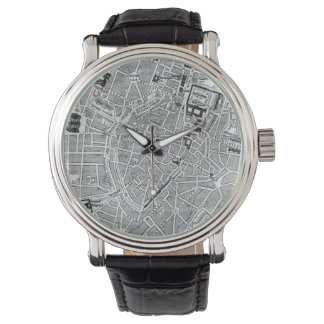Vintage Map of Munich Germany (1884) Wristwatches