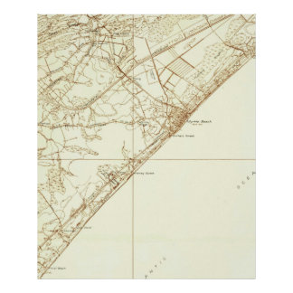 Vintage Map of Myrtle Beach South Carolina (1937) Poster