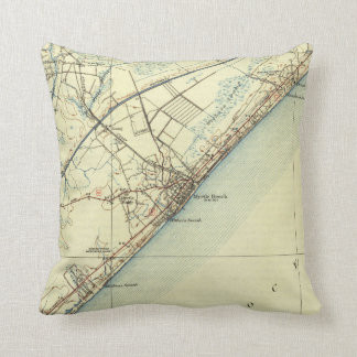 Vintage Map of Myrtle Beach South Carolina (1940) Throw Pillow