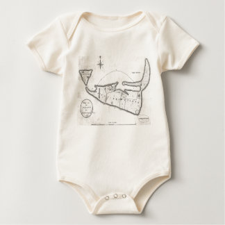 Vintage Map of Nantucket (1782) Baby Bodysuit