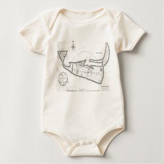 Vintage Map of Nantucket (1782) Baby Bodysuit